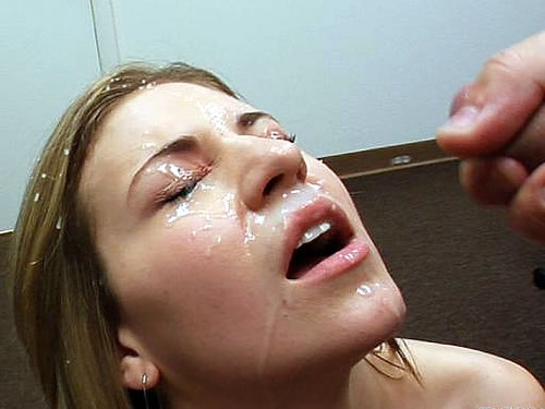 girls getting cummed in the face
