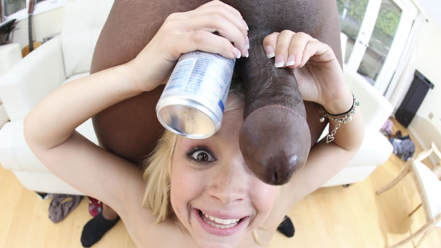 Milf moxxie sucking big black cock