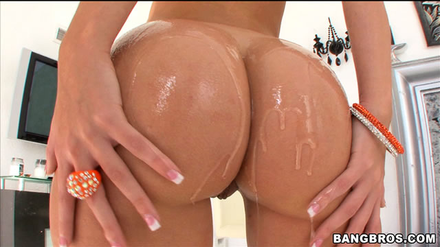 oiled naked bubble butt