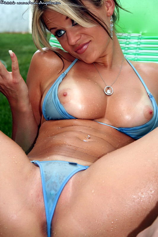 Ann Angel in Wicked Weasel Bikini Showing Tits, Ass and Pussy Video