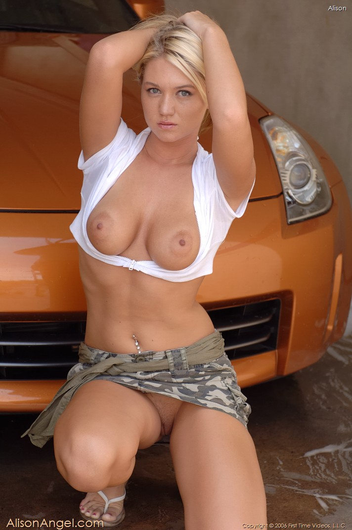 Absolutely alison angel car wash nude for