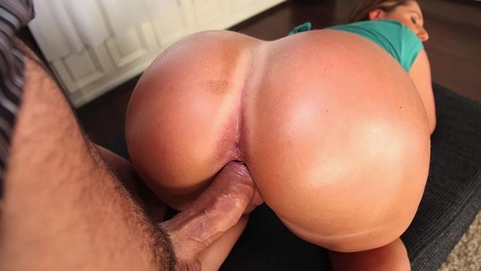 White bubble butt anal