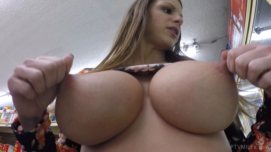 Milf flashing videos tits natural boobs