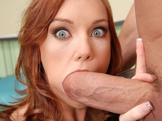 Riley jensen sucking cock
