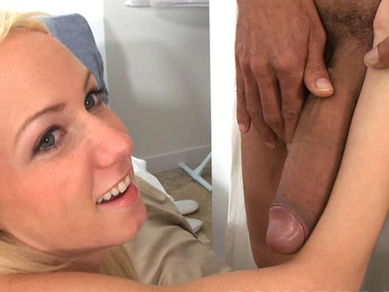 comparing with her cock