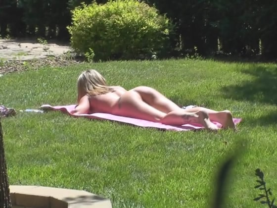 Hairy women sunbathing nude accept. interesting