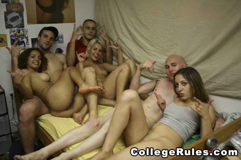 Coed group sex