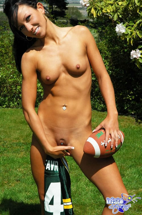 Something Girls naked play football