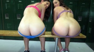 Madison Spears and Karina White's Asses