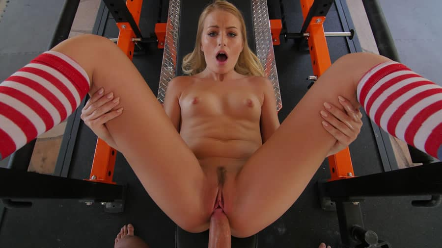 Blonde Teen Spreading Legs