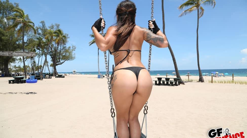 Girlfriend in a Thong Bikini
